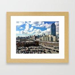 Long Island City x Manhattan Framed Art Print