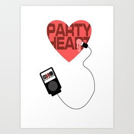 S.N.O Party Heart Art Print