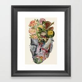Mindfulness anatomical collage art by bedelgeuse Framed Art Print