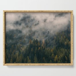 Fog Forest Serving Tray