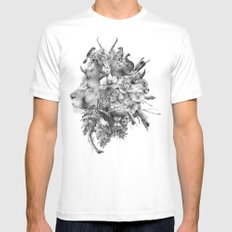 Kingdom of Monarchs (Black and White Version) Mens Fitted Tee White MEDIUM
