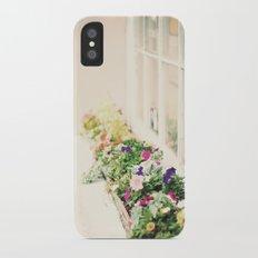 charleston flower boxes Slim Case iPhone X