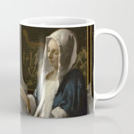 Woman Holding a Balance Johannes Vermeer Coffee Mug