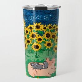 Among the Sunflowers Travel Mug