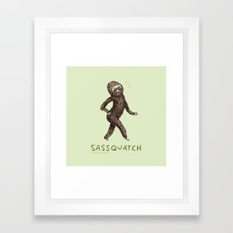 Sassquatch Framed Art Print