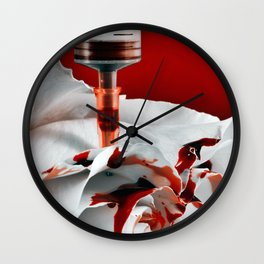 Paining a Rose Red Wall Clock