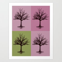 Tree Collage Art Print