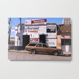 Mexico street scene Metal Print