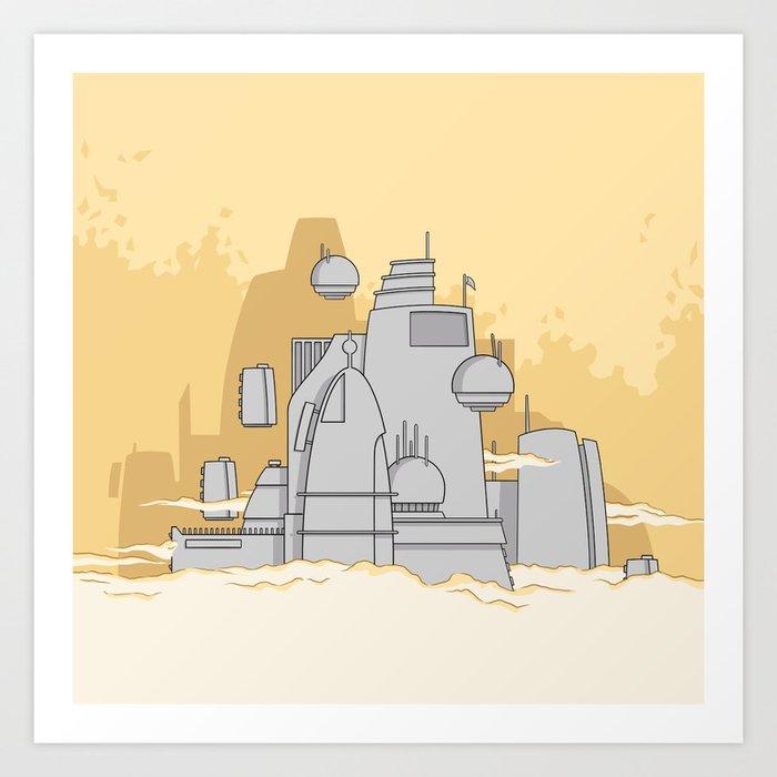 A city in space Art Print