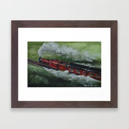The Hogwarts Express | Watercolor Painting Framed Art Print