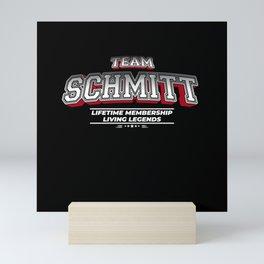 Team SCHMITT Family Surname Last Name Member Mini Art Print