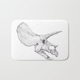 Skull of a Dinosaur Bath Mat