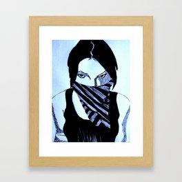 Shadowed Emotions Framed Art Print