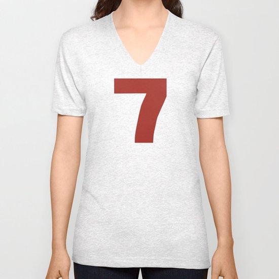 Number 7 Unisex V-Neck