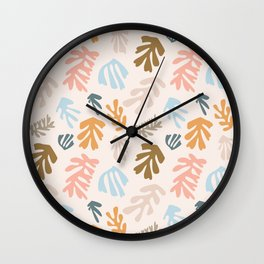 Seaweeds and sand Wall Clock