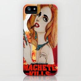 G Killer Part 4 - La Chamaleon (Machete Kills) iPhone Case