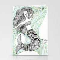mermaids Stationery Cards featuring Mermaids by winnie patterson