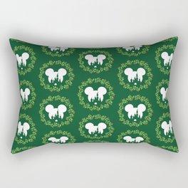 Fairytale Castle Christmas Wreath Mouse Ears Rectangular Pillow