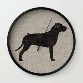 American Pit Bull Terrier Silhouette(s) Wall Clock