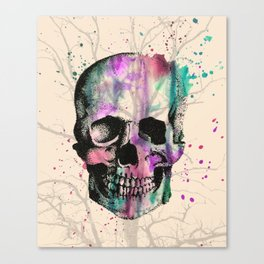 Tree Skull Canvas Print