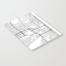 Minimal City Maps - Map Of Phoenix, Arizona, United States Notebook