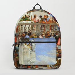 """Veronese (Paolo Caliari) """"The Wedding at Cana"""" Backpack"""