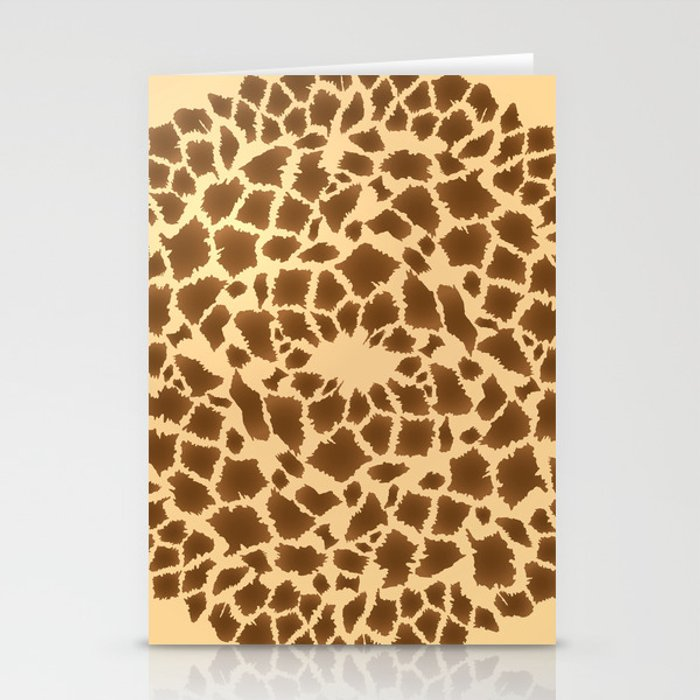 Giraffe circular pattern Stationery Cards