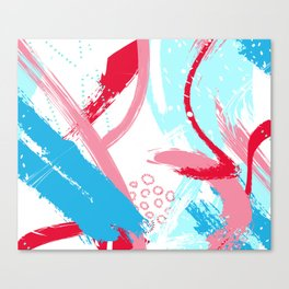 Expressive red Canvas Print