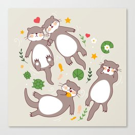 Significant otters Canvas Print