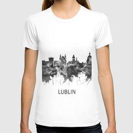Lublin Poland Skyline BW T-shirt