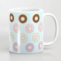 doughnut Mugs featuring Doughnut Polka by Karolis Butenas