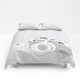 Yashica Camera - blue bird Comforters