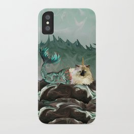 Behold the Mythical Merkitticorn - Mermaid Kitty Cat Unicorn iPhone Case