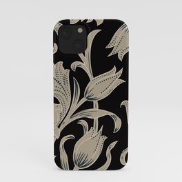 ivory flower vintage baroque pattern iPhone Case