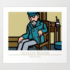 auguste renoir (portrait) Art Print