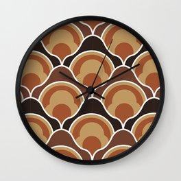 Rising Pumpkins In Brown Wall Clock