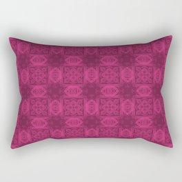 Pink Yarrow Geometric Floral Rectangular Pillow