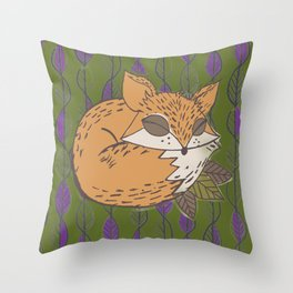 Fall Fox Throw Pillow