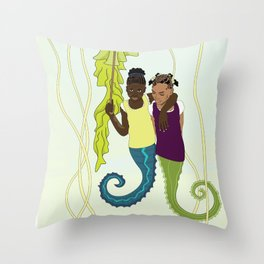 Aflan and Chaz Throw Pillow