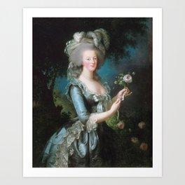 Marie Antoinette with the Rose, Elisabeth Vigee Le Brun, 1783 Art Print