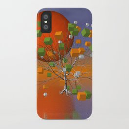 fancy tree and full moon -1- iPhone Case