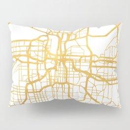 KANSAS CITY MISSOURI CITY STREET MAP ART Pillow Sham