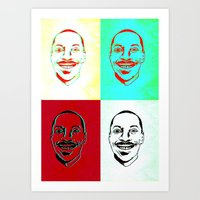 actor Art Prints featuring Character Actor by Chiz Pimento
