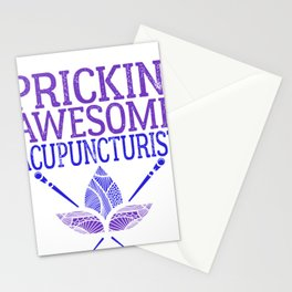 Funny Acupuncture Prickin Awesome Acupuncturist Stationery Cards