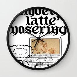 laptop amoeba latte' nosering Wall Clock