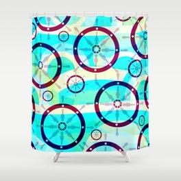Ship wheels Shower Curtain
