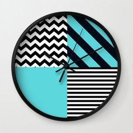 Blue B&W Wall Clock
