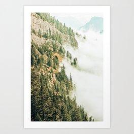 Hills & Fog #photography #nature Art Print