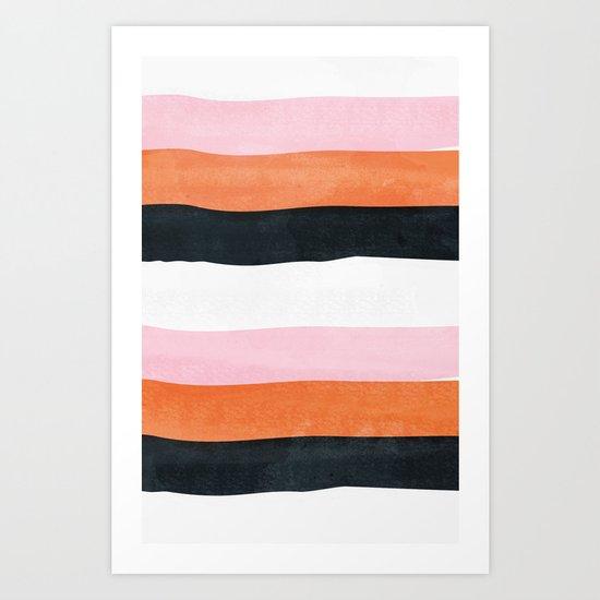 3 Tones Art Print