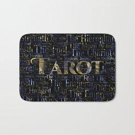 Tarot Major Arcana Word Art  Gold and Gemstone Bath Mat